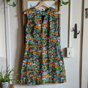 Vintage 60's 🏵️ flower power mini dress S-M